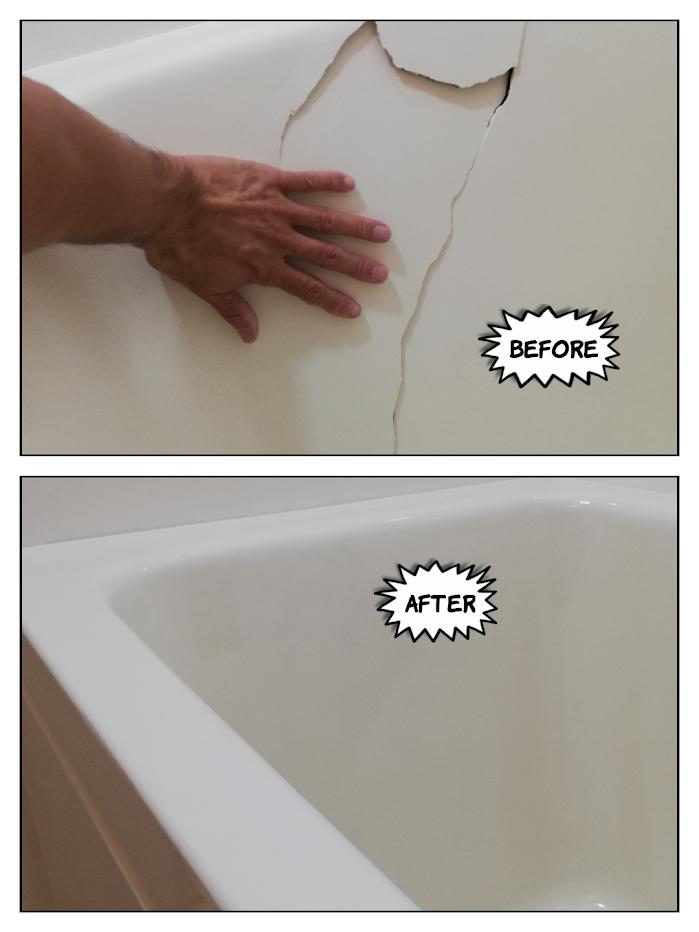 名古屋市浴槽割れ修理塗装