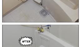 扶桑町アパートの浴室塗装工事ビフォーアフター