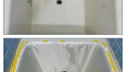 FRP浴槽のひび割れ@三重県川越町