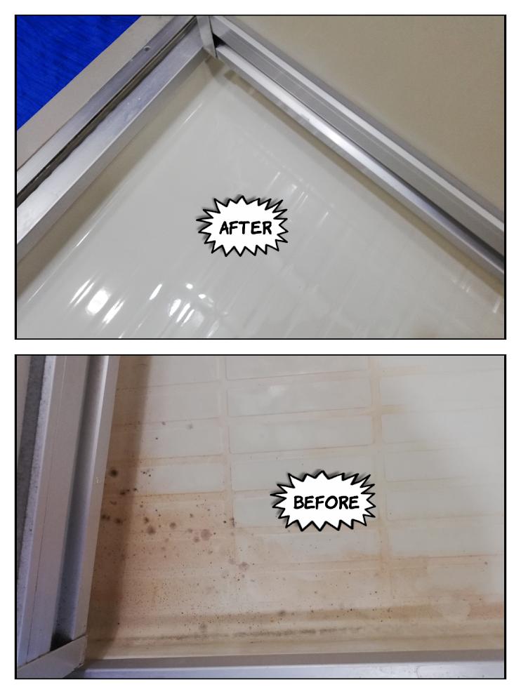 浴室の洗い場の汚れ@岩倉市