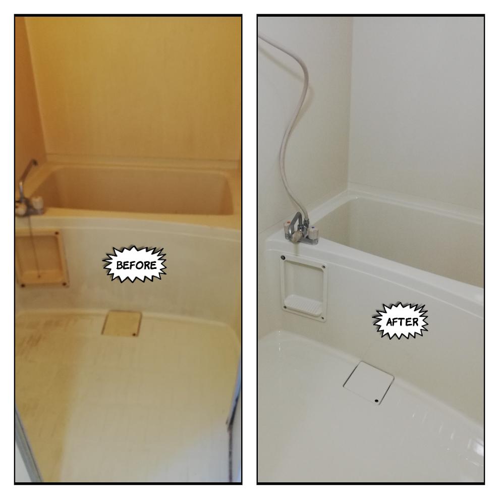浴室塗装ビフォーアフター@中区